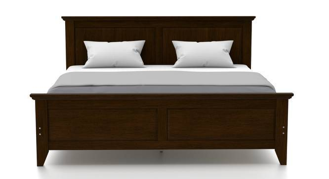 Somerset - Evelyn Compact Bedroom Set (King Bed Size, Dark Walnut Finish) by Urban Ladder