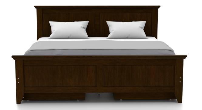Somerset - Evelyn Storage Essential Bedroom Set (King Bed Size, Dark Walnut Finish) by Urban Ladder