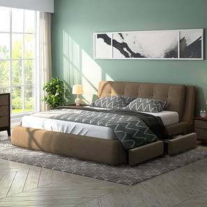 Stanhope Upholstered Storage Bed (King Bed Size, Mist Brown)