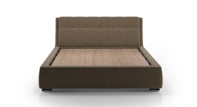 Stanhope Upholstered Storage Bed (King Bed Size, Mist Brown) by Urban Ladder