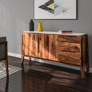 Galatea Marble Sideboard (Teak Finish)
