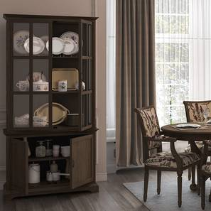 Eleanor Display Cum Crockery Cabinet Vintage Brown Oak Finish By Urban Ladder