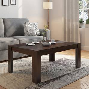 Striado Coffee Table (Mahogany Finish, Without Shelves Configuration)