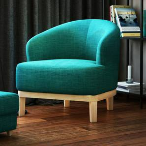 Ursula Lounge Chair (Teal) by Urban Ladder