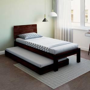 Boston Single Bed With Trundle (Mahogany Finish)