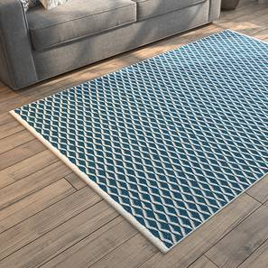 "Amaro Dhurrie (36"" x 60"" Carpet Size, Blue & White) by Urban Ladder"