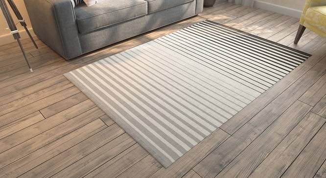 "Grevy Dhurrie (48"" x 72"" Carpet Size, Monochrome) by Urban Ladder"