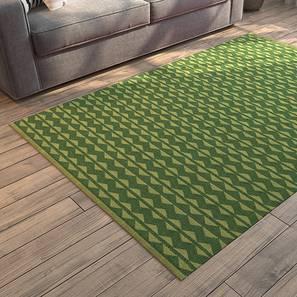 "Viviani Dhurrie (Green, Rectangle Carpet Shape, 36"" x 60"" Carpet Size) by Urban Ladder"