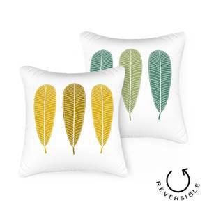 "Frangipani Cushion Cover - Set of 2 (16"" X 16"" Cushion Size, Three Of Leaves Pattern)"