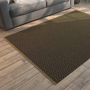 """Sargasso Dhurrie (Rectangle Carpet Shape, 36"""" x 60"""" Carpet Size, Black & Brown)"""