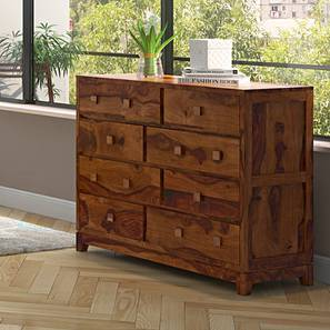 Magellan 8 Drawer Chest Of Drawers (Teak Finish) By Urban Ladder