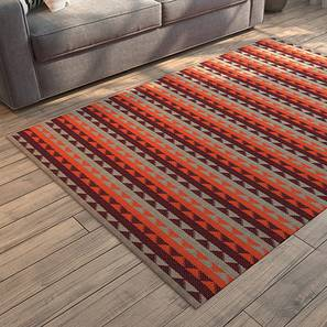 "amaro (36"" x 60"" Carpet Size, Orange & Maroon) by Urban Ladder"