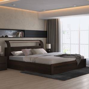 sutherland hydraulic storage smart bed king bed size dark walnut finish - Furniture Design Online