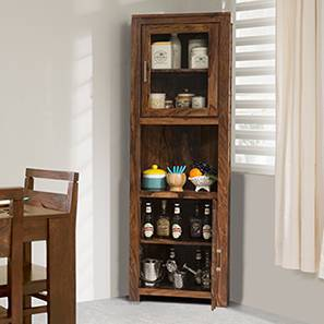 Murano Two-Door Corner Cabinet (Teak Finish)