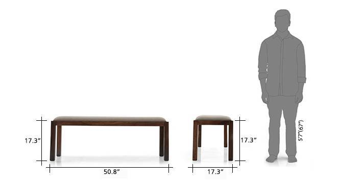 Arabia xl oribi dining table sets with bench teak brown 9