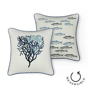 """Songs Of The Sea Cushion Cover - Set of 2 (16"""" X 16"""" Cushion Size, Anemone Pattern)"""