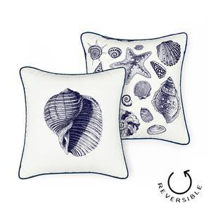 "Songs Of The Sea Cushion Cover - Set of 2 (16"" X 16"" Cushion Size, Conch Pattern)"