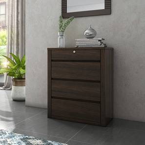 Barrie Chest of Drawers (Dark Walnut Finish, 4 Drawer Configuration)