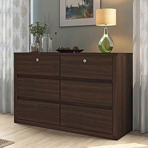 Barrie Large Chest of Drawers (Dark Walnut Finish, 6 Drawer Configuration) by Urban Ladder