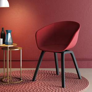 Poulain Accent Chair (Red, Fabric Seat)