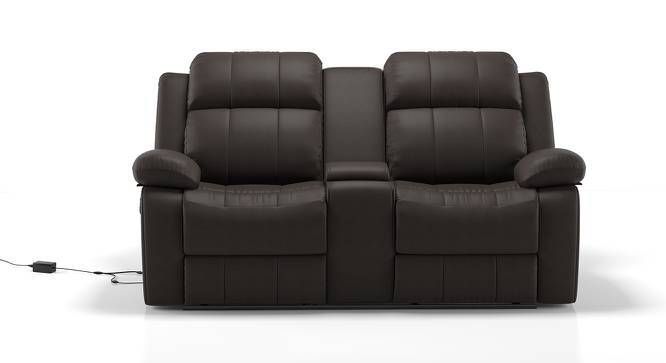 Robert Motorized Home Theatre Rocker Recliner Sofa (Chocolate Leatherette) by Urban Ladder