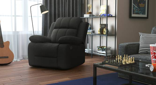 Robert Recliner (Grey Fabric) by Urban Ladder
