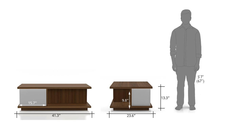 Webber storage coffee table white 09