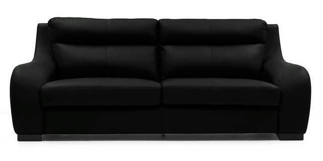 Vicenza Sofa (Licorice Italian Leather) (Licorice, Regular Sofa Size, Regular Sofa Type, Leather Sofa Material)