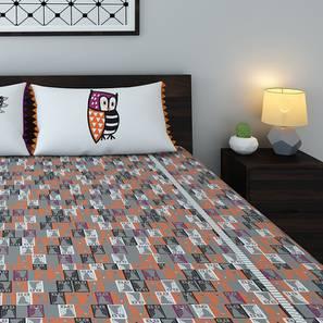 Owl Prowl Bedsheet Set (King Size, Abacus Pattern)