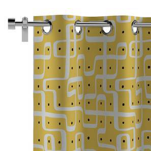 "Kolam Konnect Curtain - Set Of 2 (52""x84"" Curtain Size, Endless Maze Pattern)"