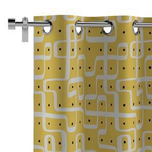 "Kolam Konnect Curtain - Set Of 2 (52""x84"" Curtain Size, Endless Maze Pattern) by Urban Ladder"