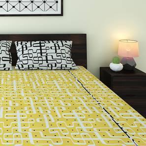 Kolam Konnect Bedsheet Set (King Size, Endless Maze Pattern)