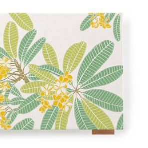 """Frangipani Table Runner (12"""" x 70"""" Table Linen Size, Three Of Leaves Pattern)"""