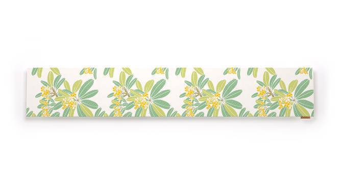 "Frangipani Table Runner (12"" x 70"" Table Linen Size, Three Of Leaves Pattern) by Urban Ladder"