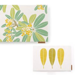 Frangipani Table Linen Set (Three Of Leaves Pattern)