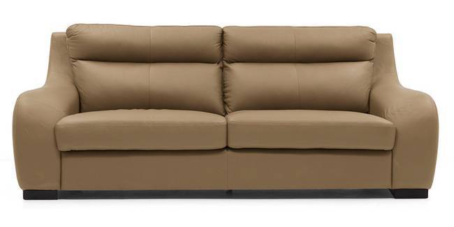 Vicenza Sofa (Camel Italian Leather) (Camel, Regular Sofa Size, Regular Sofa