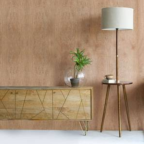 Faraday Floor Lamp with Side Table (Walnut Finish)