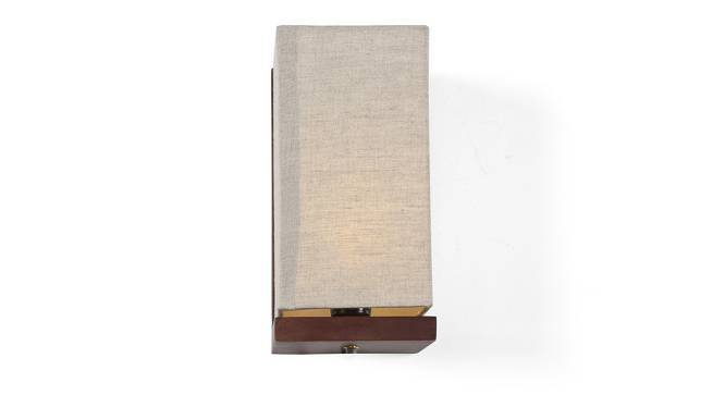 Pelham Wall Lamp (Walnut Base Finish, Natural Linen Shade Colour) by Urban Ladder