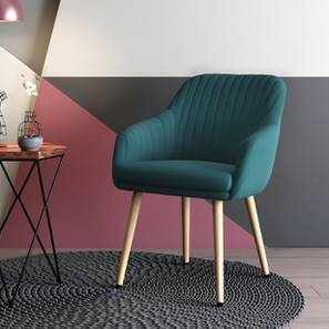 Rochelle Lounge Chair (Dark Aqua) by Urban Ladder