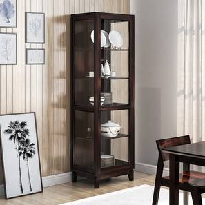 Akira Crockery Unit (Mahogany Finish, L Size)