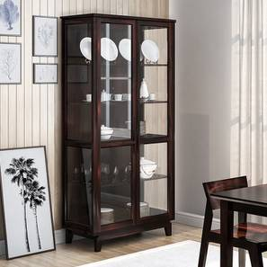 Akira Crockery Unit (Mahogany Finish, XL Size)