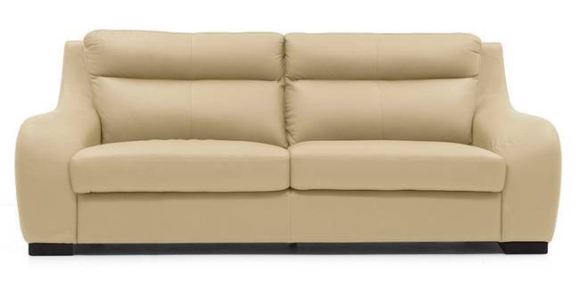 Vicenza Sofa (Cream Italian Leather) (Cream, Regular Sofa Size, Regular Sofa Type, Leather Sofa Material)