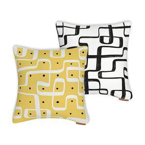 "Kolam Konnect Cushions - Assorted Set Of 2 (16"" X 16"" Cushion Size)"