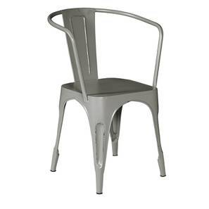 Soren metal chair with arms a lp
