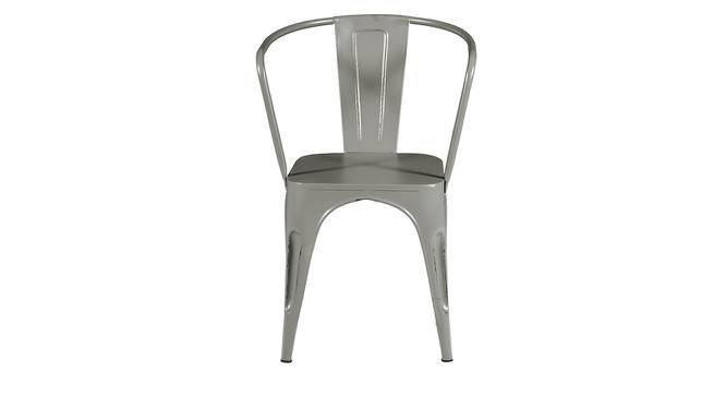 Soren Metal Chair (With Arms) (Grey) by Urban Ladder