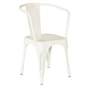 Soren Metal Chair (With Arms) (Cream)