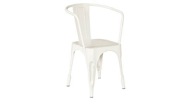 Soren Metal Chair (With Arms) (Cream) by Urban Ladder