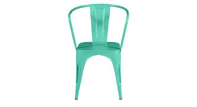 Soren Metal Chair (With Arms) (Blue) by Urban Ladder