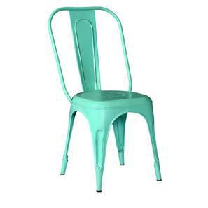 Soren Metal Chair (Blue) by Urban Ladder