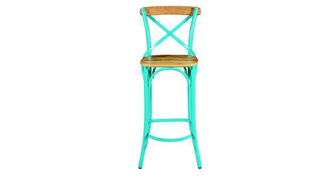 Rosenberg Bar Chair (Blue) by Urban Ladder
